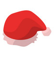 santa hat icon isometric style vector image