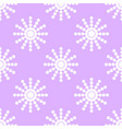 seamless pattern of white snowflakes on a pink vector image
