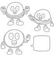 set of burger cartoon vector image vector image