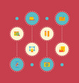 set of wd icons flat style symbols with vector image vector image