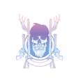 sketch skull with beard and mustaches vector image vector image