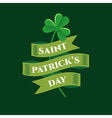 St patrick symbol ribbon vector image