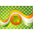 st patricks day bright abstract wavy background vector image vector image