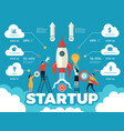 startup infographic business strategy path vector image