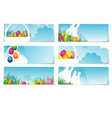 stickers set Easter vector image vector image