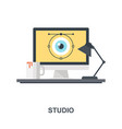 studio icon concept vector image vector image