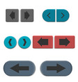 stylish multicolored web buttons with 3d effec vector image vector image