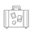 travel luggage line icon vector image