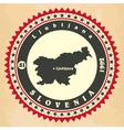 Vintage label-sticker cards of Slovenia vector image vector image