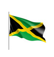 waving flag of jamaica vector image vector image
