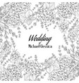 wedding invitation card with custom sign vector image vector image