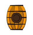 wooden barrel icon vector image vector image