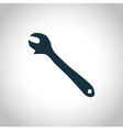 Wrench black icon vector image
