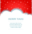 Xmas background with trees and snow vector image vector image