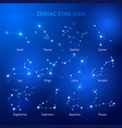 zodiac horoscope star signs vector image vector image