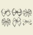 vintage ribbon bows vector image