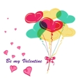background balloon Valentine day doodle vector image
