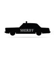 sheriff car vector image