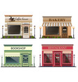shops and stores icons set vector image