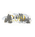 2019 merry christmas and happy new year background vector image vector image