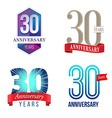 30 Years Anniversary Symbol vector image vector image