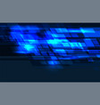 abstract blue light geometric technology vector image vector image