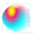 abstract colorful blur gradient drop liquid vector image vector image