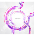 Abstract futuristic purple circles vector image vector image
