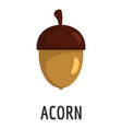 acorn icon flat style vector image