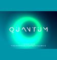 alphabet font futuristic digital space typography vector image