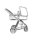 baby carriage sketch hand drawn vector image vector image