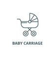 bacarriage line icon bacarriage vector image vector image