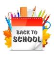Back To School Calendar vector image