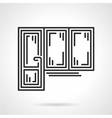 Balcony door black line icon vector image vector image