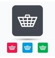 Basket icon Shopping cart sign vector image vector image