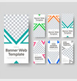 big set vertical white web banners with a vector image vector image