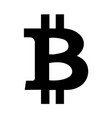 bitcoin icon sign logo single clip art vector image vector image