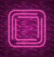 blue abstract neon square shape vector image vector image