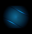 blue light line shadow on dark circle mesh vector image