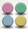 Bottle caps vector image vector image