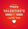 Bright Red Valentines Card vector image vector image