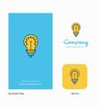 bulb company logo app icon and splash page design vector image vector image