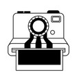 camera photographic instant isolated icon vector image