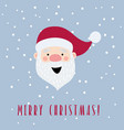 christmas card with cartoon santa claus vector image