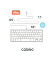 coding icon concept vector image vector image