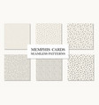 collection of seamless hand drawn memphis patterns vector image vector image