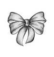 decorative realistic vintage bow isolated on vector image vector image