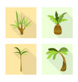 design nature and flora sign set of vector image vector image