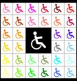 disabled sign felt-pen 33 vector image vector image