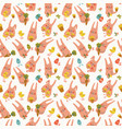 easter rabbits seamless pattern vector image vector image